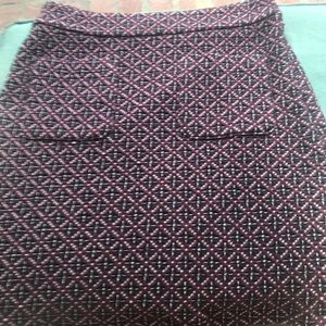 Ann Taylor Loft Geometric Skirt, Size: 2